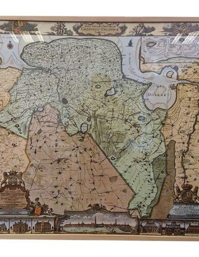 Borgen landkaart Groningen inlijsten