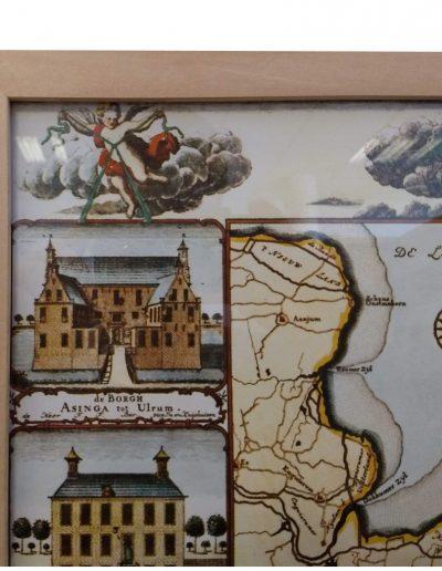 Borgen landkaart Groningen inlijsten detail