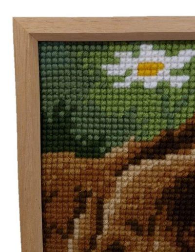 Textiel, Borduurwerk inllijsten detail