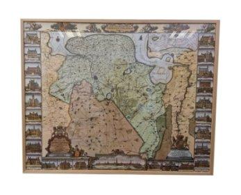 Landkaart Groningen inlijsten