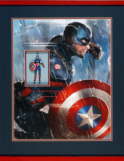 Captain America ingelijst